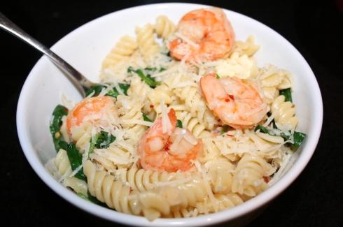 Leftover shrimp bowl